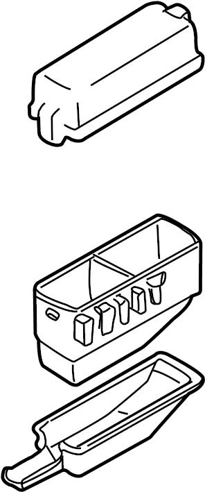 Mazda MPV Box, relay. Fuse box. Relay box. #1. Relay box