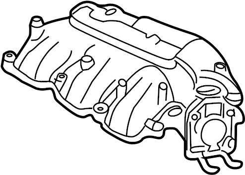 Mazda MPV Engine Intake Manifold. 3.0 LITER, upper. MPV