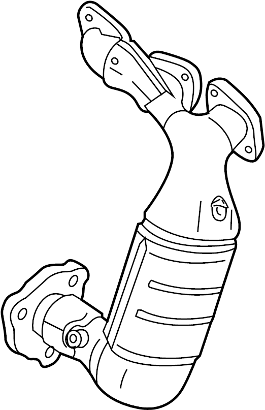 Mazda MPV Catalytic Converter with Integrated Exhaust