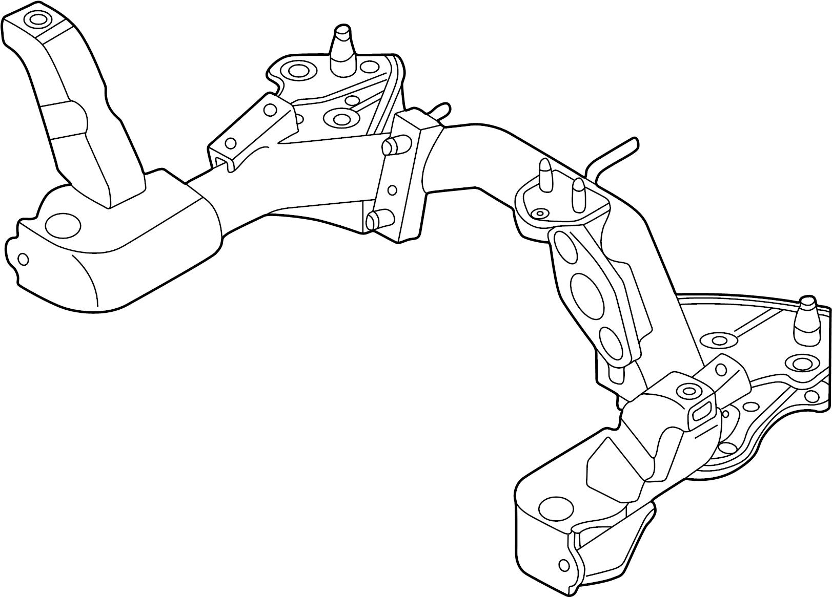 Mazda MPV Engine Cradle. MPV. SUSPENSION, Front