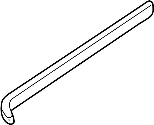 Mazda MPV Sliding Door Track. W/pwr sliding dr