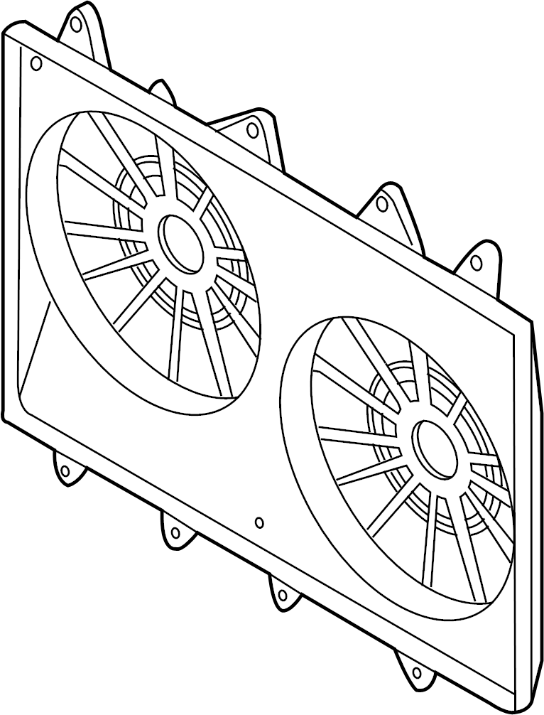 Mazda CX-9 Engine Cooling Fan Shroud. PACKAGE, TOWING
