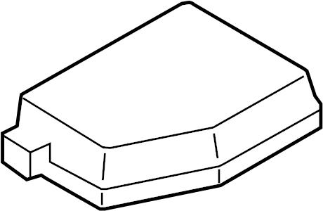Mazda CX-9 Fuse Box Cover. ENGINE COMPARTMENT, w/hvy duty