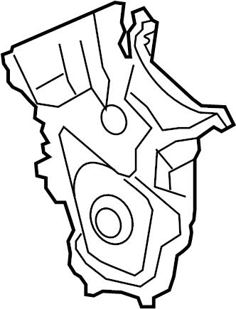 Mazda 6 Engine Timing Cover. 3.7 LITER. CX-9. Mazda6