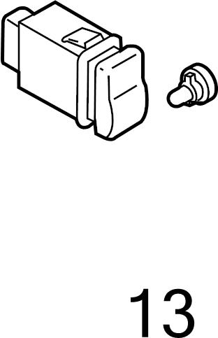 Mazda CX-9 Instrument Panel Light Bulb. Switch, Hazard