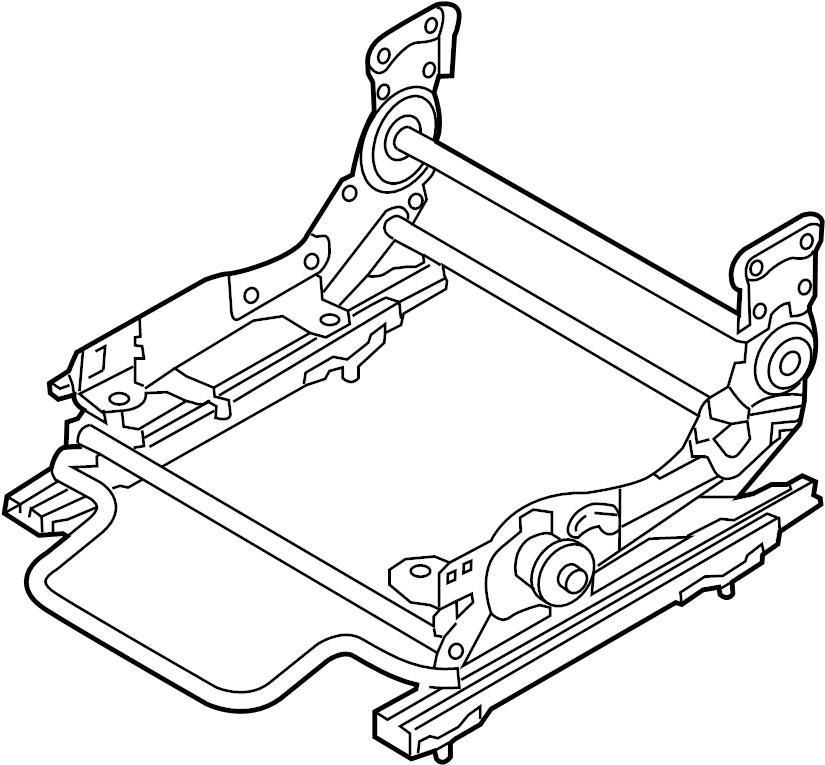 Mazda CX-9 Seat Adjuster. DRIVER SEAT, MANUAL. TRACKS