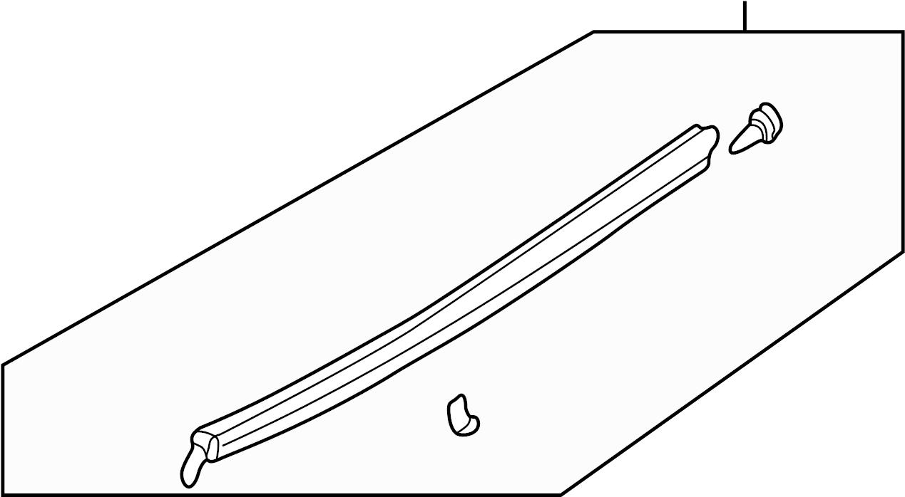 Mazda MIATA Door Window Belt Weatherstrip. Outer