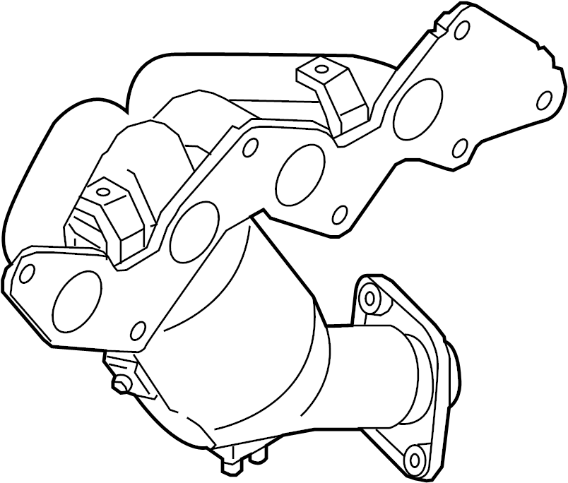 Mazda MX-5 Miata Catalytic Converter with Integrated