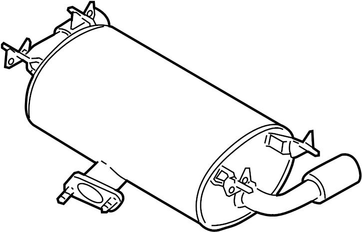 Mazda MX-5 Miata Exhaust Muffler. Auto trans. Miata MX5