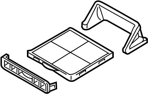 Mazda MX-5 Miata Door, blower unit. Filter assembly