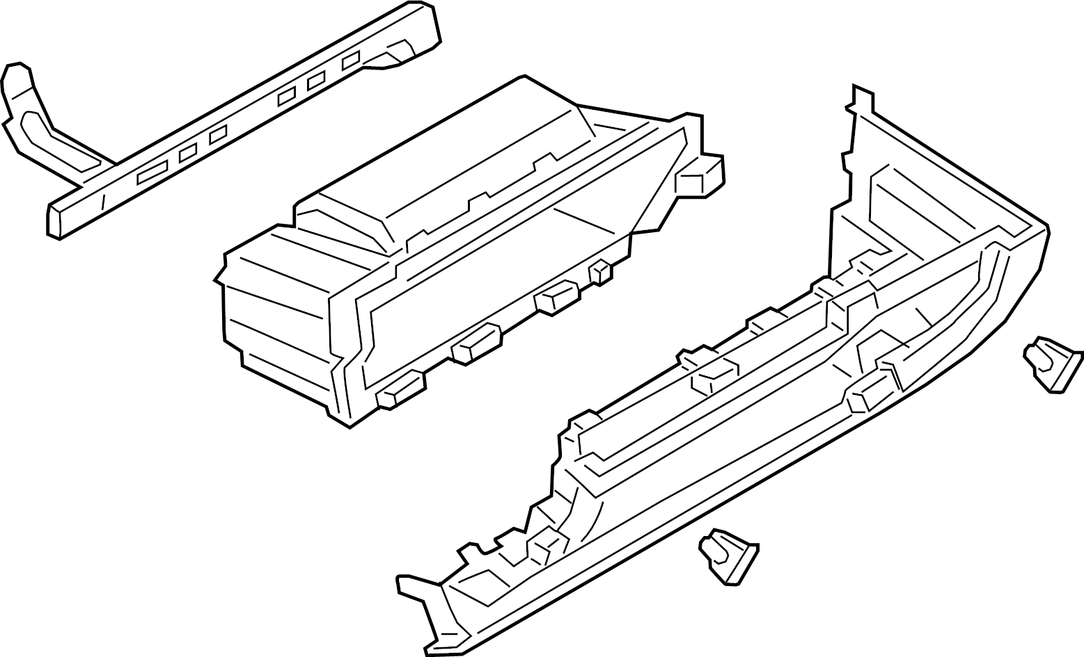 Mazda 3 Glove Box Assembly. MEXICO BUILT. PANEL