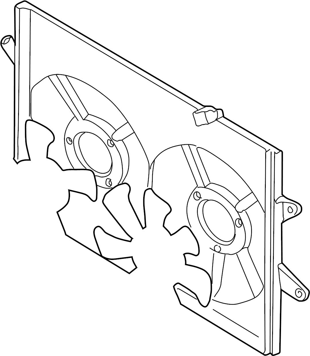 Mazda 626 Engine Cooling Fan Shroud. Make, Radiator