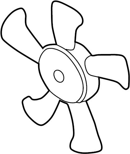 Mazda 626 Engine Cooling Fan Blade. WAC, LITER, WATER