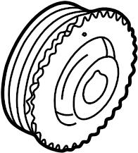 Mazda 626 Engine Crankshaft Pulley. LITER, CYLINDER