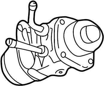 Mazda 626 Egr valve. 2.5 liter. 626, mx-6; 6 cyl