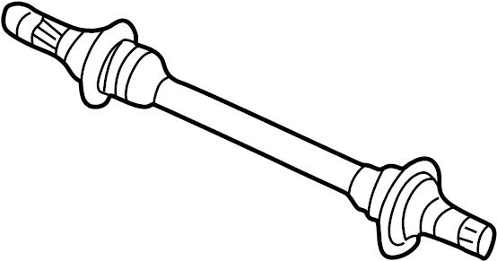 Mazda MX-6 Cv intermediate shaft. Trans, axle, auto