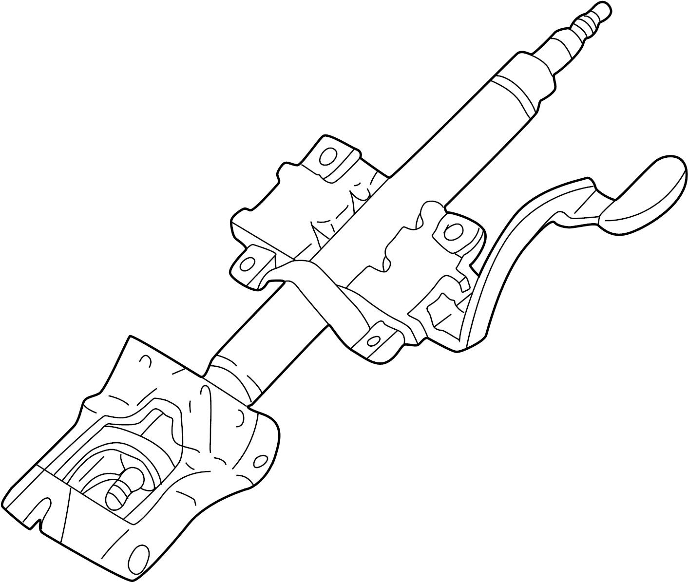 Mazda 626 Steering Column. 626, MX-6. To 5/29/98. WHEEL