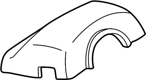 Mazda 626 Steering Column Cover. 626, MX-6; Upper