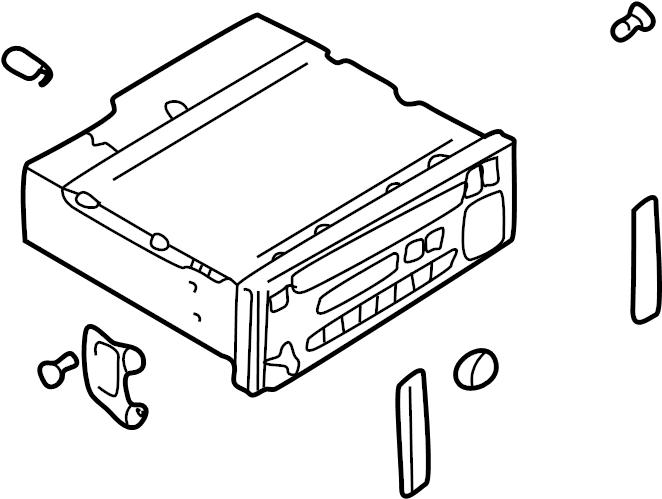 Mazda 626 Radio Control Unit. 1999-01. AM/FM & CD player