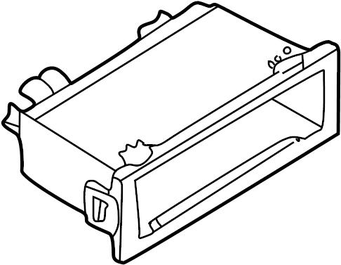 Mazda 626 Instrument Panel Pocket. SYSTEM, SOUND, Body