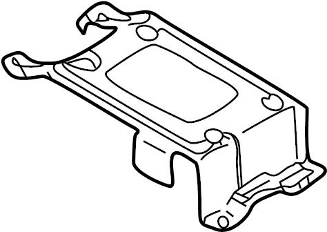 Mazda 626 626 antenn. Radio amplifier bracket. Radio