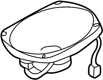 Mazda 626 Speaker (Right). Package tray, standard audio