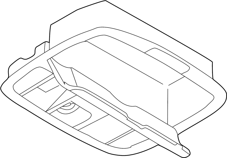 Mazda 626 Console Compartment. W/O SUNROOF, light beige