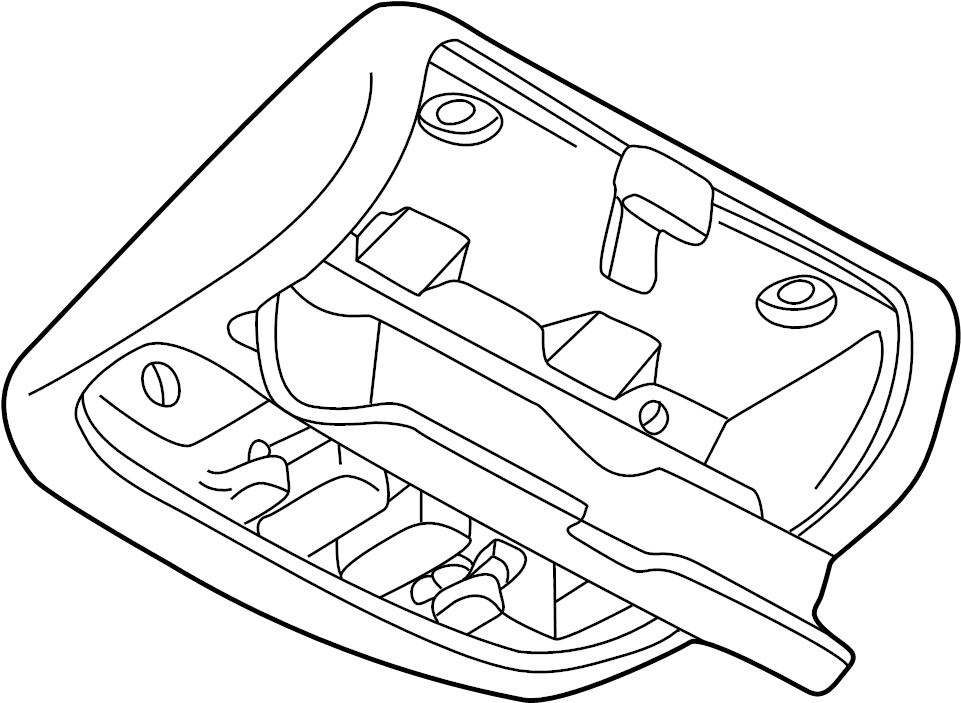 Mazda 626 Overhead Console. W/SUNROOF, light beige