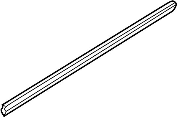 Mazda 626 Door Window Belt Weatherstrip (Left). MANUAL
