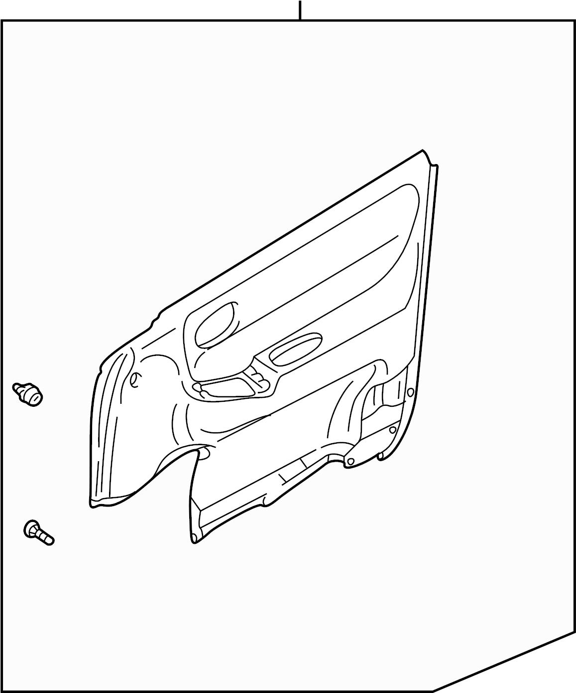 Mazda 626 Door Interior Trim Panel. Door trim panel. TRIM