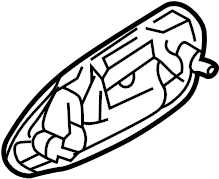 Mazda 626 Exterior Door Handle. Right, May, REAR
