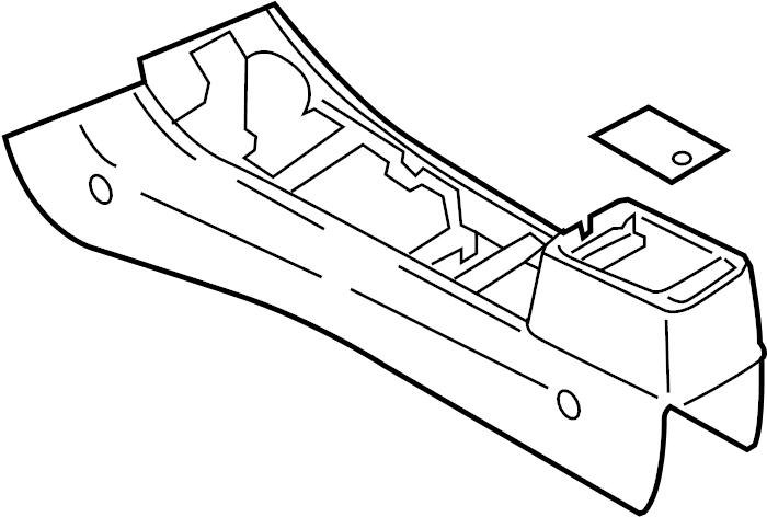 Mazda 6 Center Console. MAZDA6, 2003-05, w/leather, black