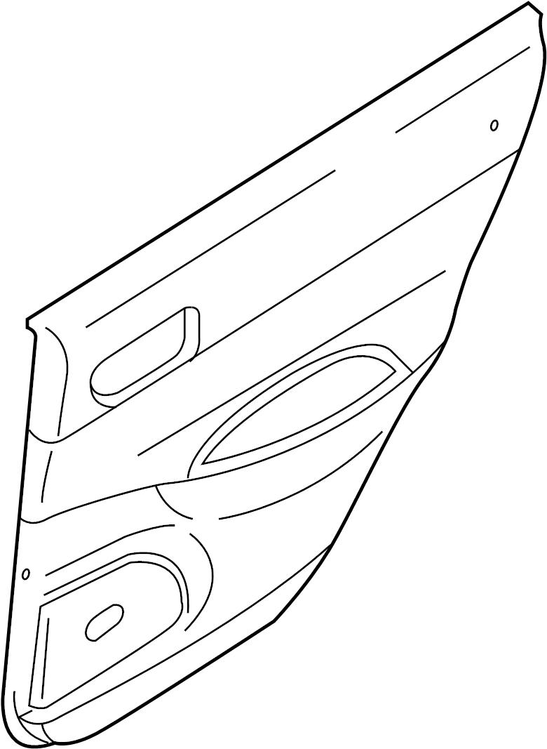 Mazda 6 Door Interior Trim Panel. MAZDA6 w/o leather, w