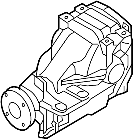 Mazda 6 Differential Housing. Rear, Carrier, AXLE