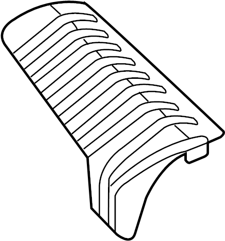 Mazda 6 Interior Quarter Panel Trim Panel (Rear, Upper