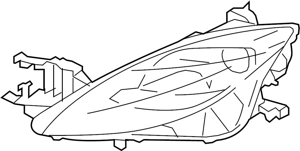 Mazda 6 Headlight (Right). Mazda6; Right; w/HID. XENON