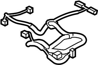 Mazda 6 Power Seat Wiring Harness. SEAT CUSHION, W/O POWER