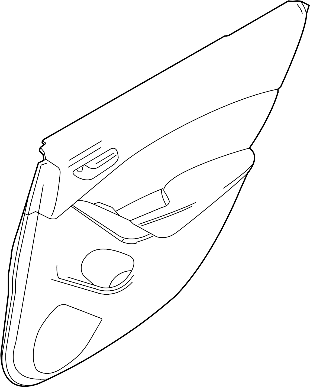 Mazda 6 Door Interior Trim Panel. Vinyl/leather, black