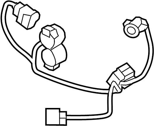 Mazda RX-8 Headlight Wiring Harness. 2009-11, HIGH