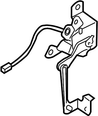 Mazda RX-8 Headlight Level Sensor. AUTO LEVELING HEADLAMPS