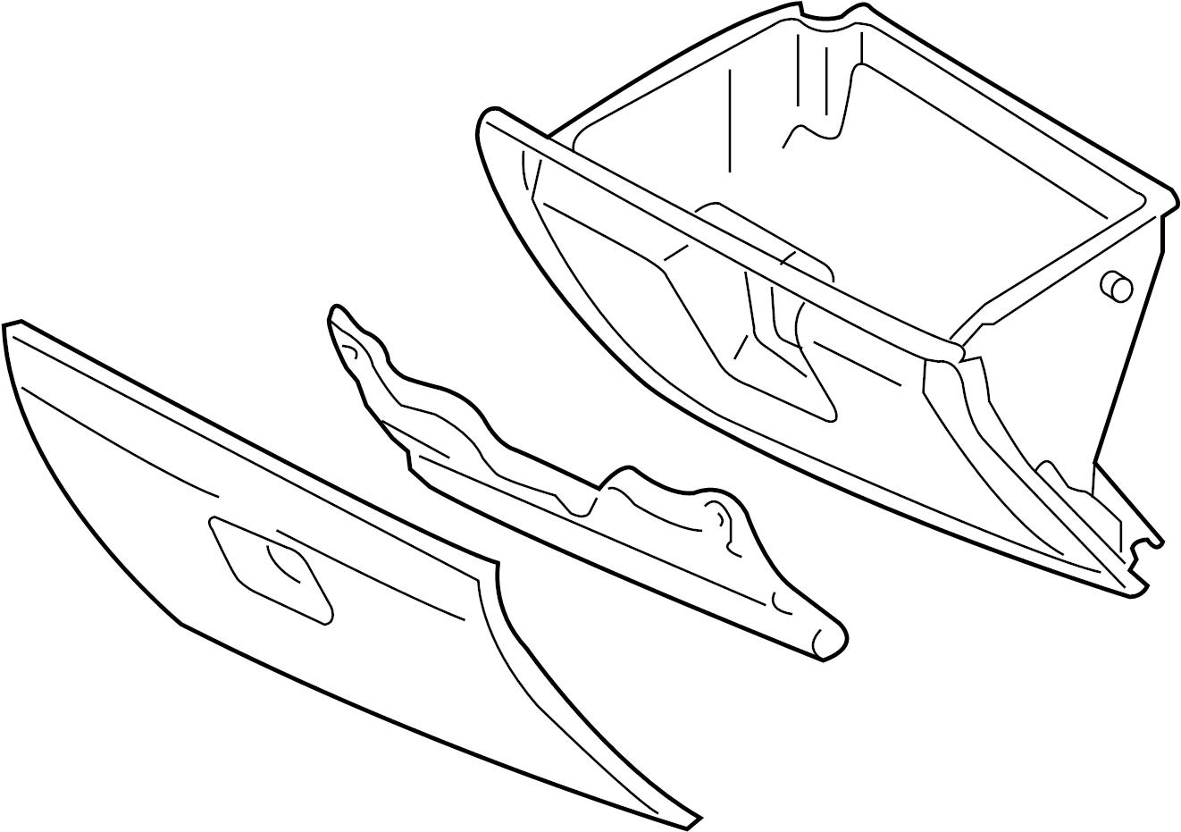 Mazda RX-8 Glove Box. PANEL, INSTRUMENT, Front, Body, Assy