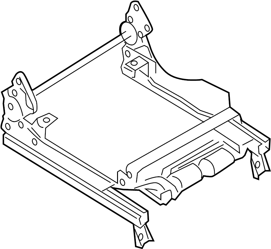 Mazda RX-8 Seat Adjuster. TYPE 1, manual seat. Left