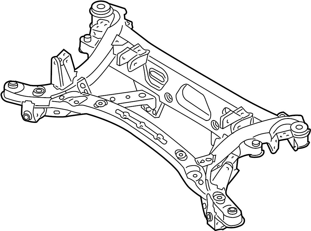 Mazda RX-8 Suspension Subframe Crossmember (Rear). RX-8