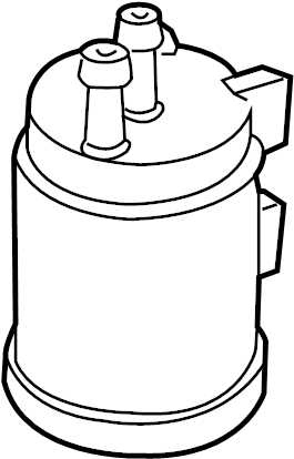 Mazda MPV Tank. Reservoir. CATCH. Vacuum. Vapor Canister