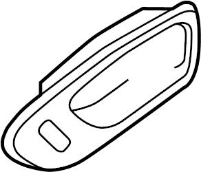 Mazda 3 Interior Door Handle Trim. Black. W/power lock