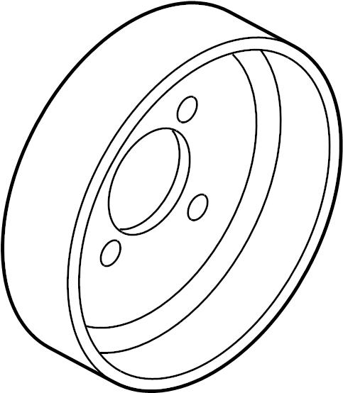 Mazda CX-7 Engine Water Pump Pulley. 2.3 LITER. 2.5 LITER