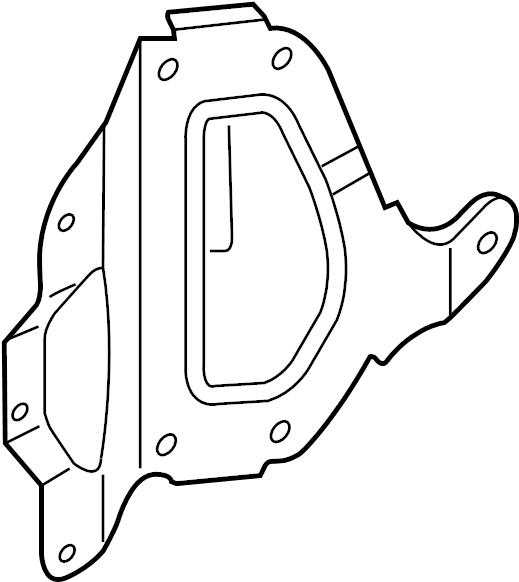 Mazda CX-7 Engine Control Module Bracket. 2.3 LITER. 2.5