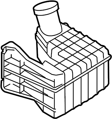 Mazda CX-7 Engine Air Intake Resonator (Rear). 2.3 LITER
