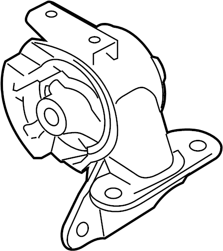 Mazda CX-7 Manual Transmission Mount. Engine, Replace