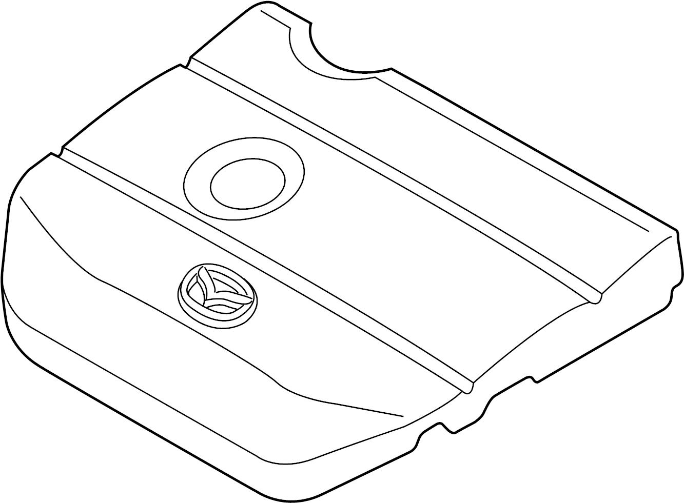 Mazda CX-7 Engine Cover. 2.0 LITER W/O SKYACTIV. 2.0L, 2
